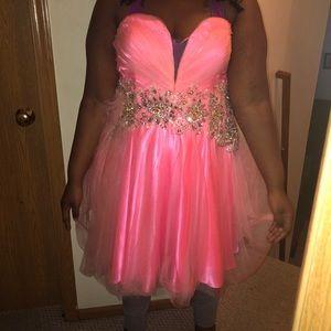 Pink homecoming dress.